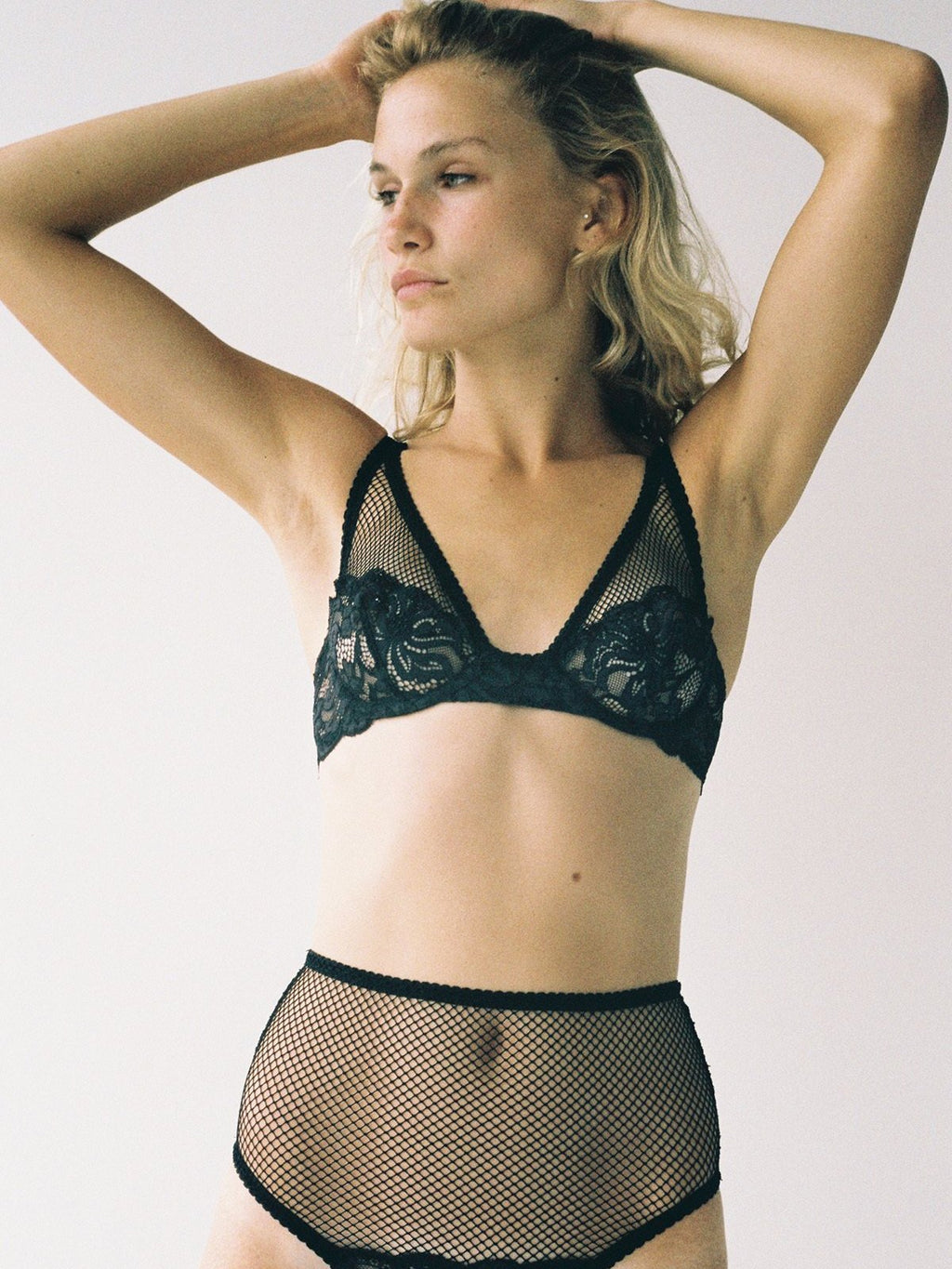 Lena Black Underwire Bra by Lonely
