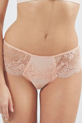 Mimi Holliday Ever Yours Peach Lace Boyshort