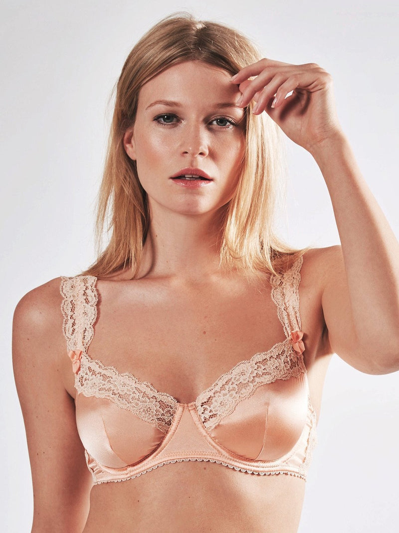Mimi Holliday Peach Blossom silk comfort bra | Finding Rosie Lingerie Boutique