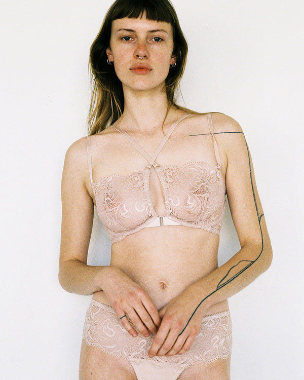 Lonely Lingerie Penny Underwire Bra in Rose Quartz