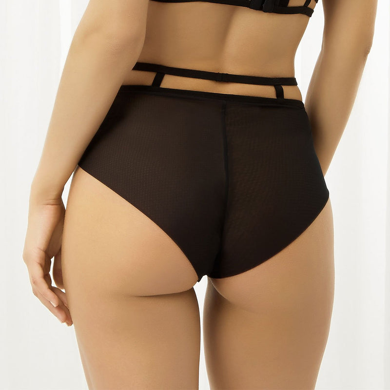 Rosa black high-waist briefs by Bluebella