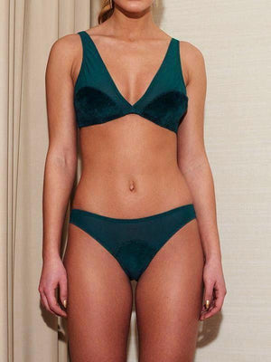 Underprotection Elise Bra in Green - Sustainable Underwear