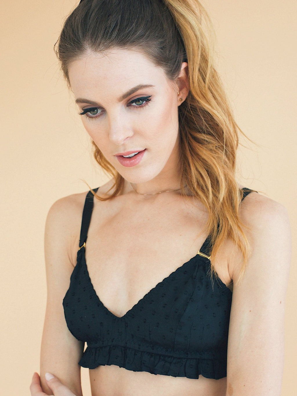 Dora bra in black by sustainable underwear designer, Underprotection