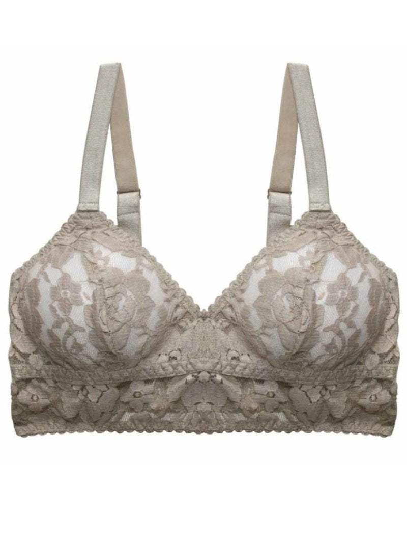Underprotection Kira bralette in grey lace