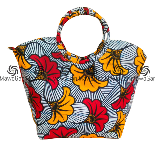 Handbag tote, Wax print, printed tote, African fabric handbag, Blue tote bag, African printed bag, unique bag
