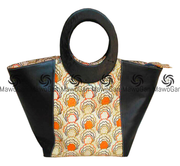 African Fashion Bag with matching ear rings and purse