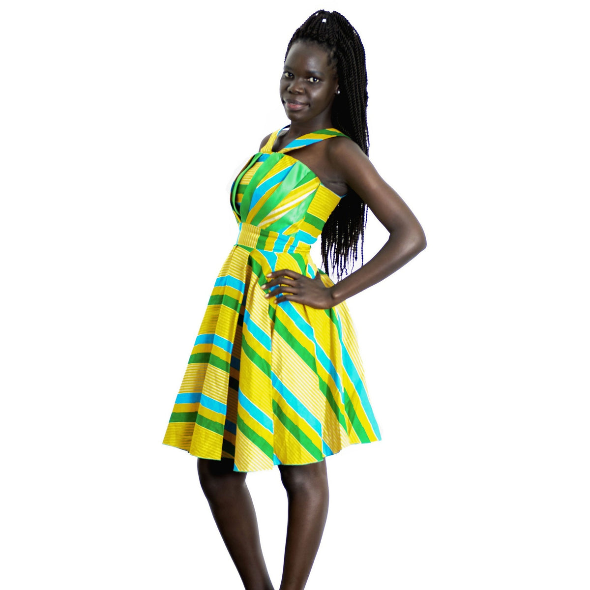 ShweShwe African Print Fit & Flare Dress