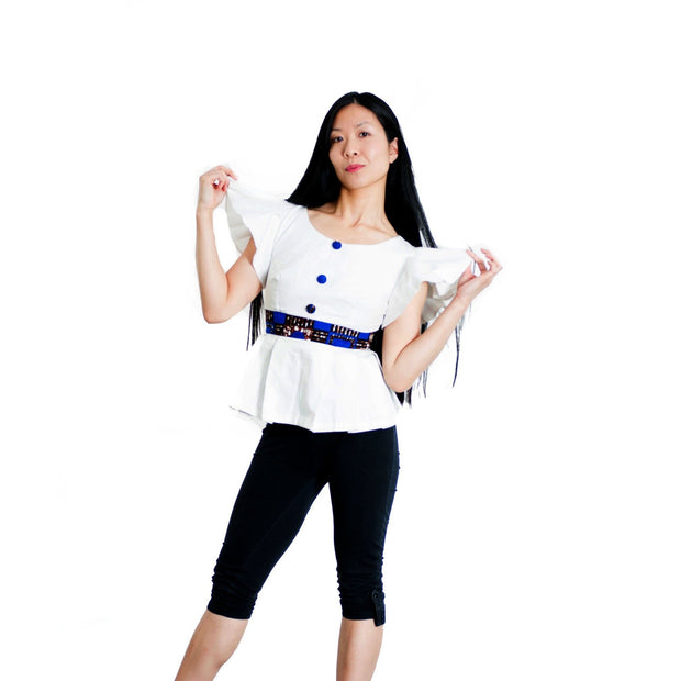 Relaxed Fit white colour top