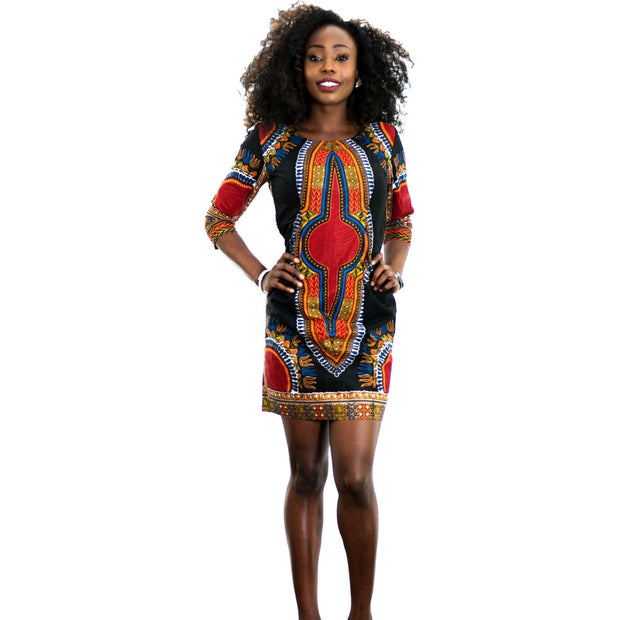 Multi colour Print Dress