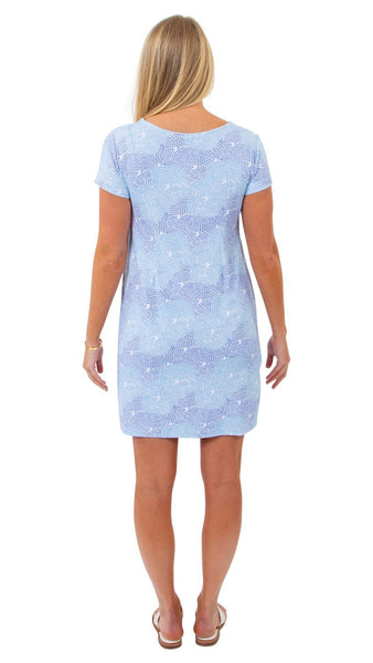 Marina Dress Braided Rope Knot Blue Sailor-Sailor