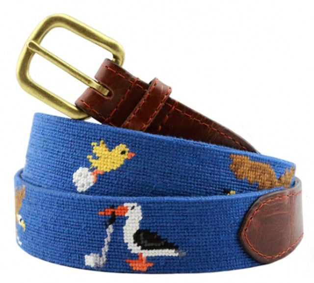 Birdie Eagle Albatross Needlepoint Belt