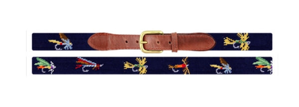 Fishing Flies Needlepoint Belt