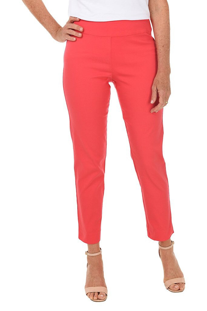 Coral Krazy Larry Pull On Ankle Pant