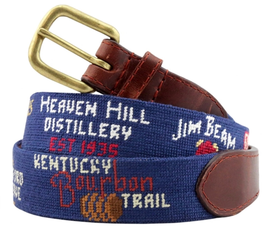 Kentucky Bourbon Trail Needlepoint Belt
