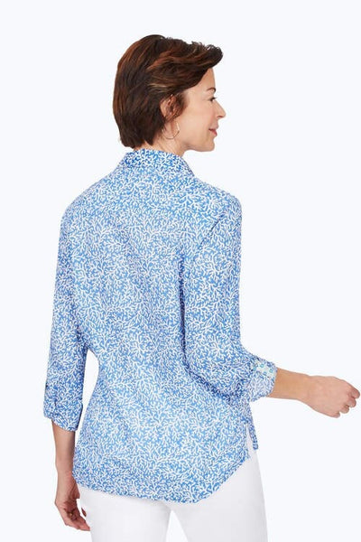 Foxcroft Zoey Coral Reef Creased Shirt