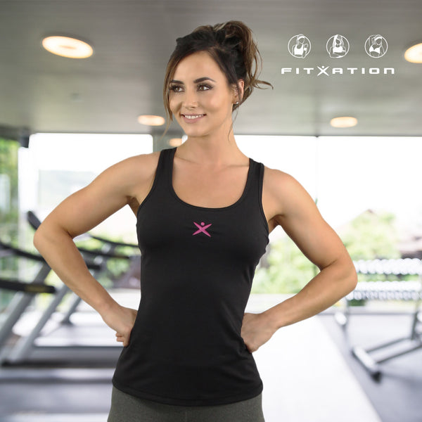 9d2cb8dce1f87 Fitxation Black and Pink Tank