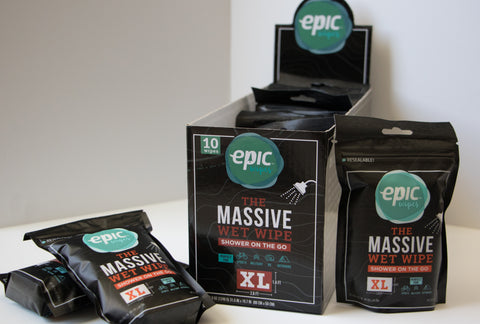 Epic Wipes, 10-pack massive wet wipes.