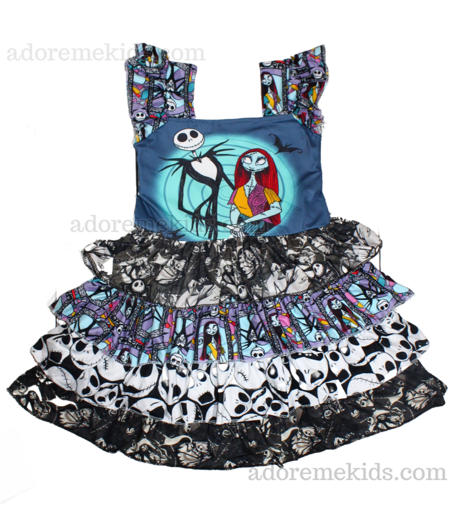 nightmare before christmas halloween dress girls disney dress boutique baby clothes toddler outfit