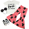 Minnie Mouse Fall Girls Outfit - Snacks Minnie Mouse Disney Shirt -  Pink Winter Bell Bottom Boutique Outfit for Baby Toddler and Girls