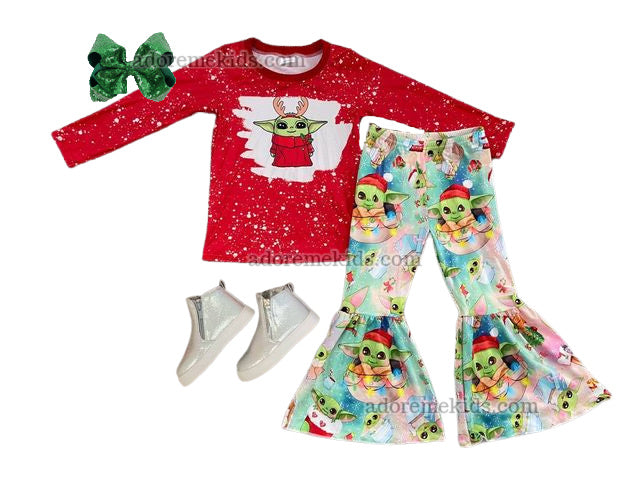 baby yoda girls outfit star wars girls clothes boutique yoda star wars christmas santa outfit