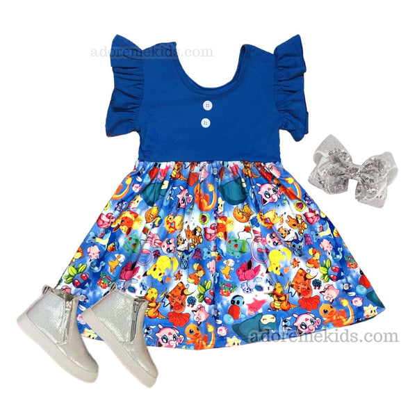 pokemon girls clothes outfit dress girls boutique matching charizard dress pikachu dress