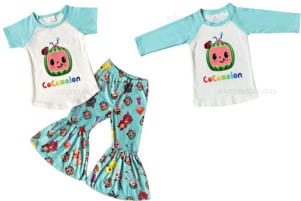 Cocomelon  Outfit and Shirt- Girls Boys Matching Boutique Clothes Set for baby and toddler