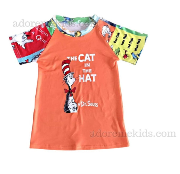 Dr Seuss Boys Shirt - Cat in the Hat Matching Boutique Clothes for Baby, Toddler and Kids