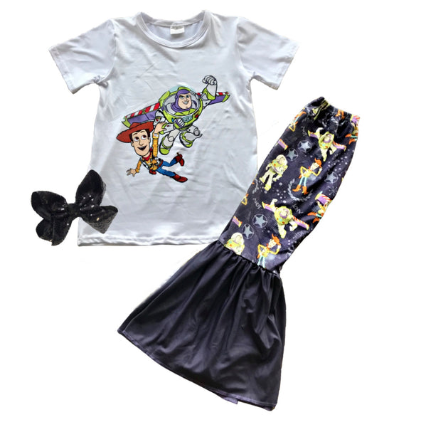 Toy Story Girls Outfit - Disney Toy Story Pants Set - Matching Boutique Clothes for Baby and Toddler