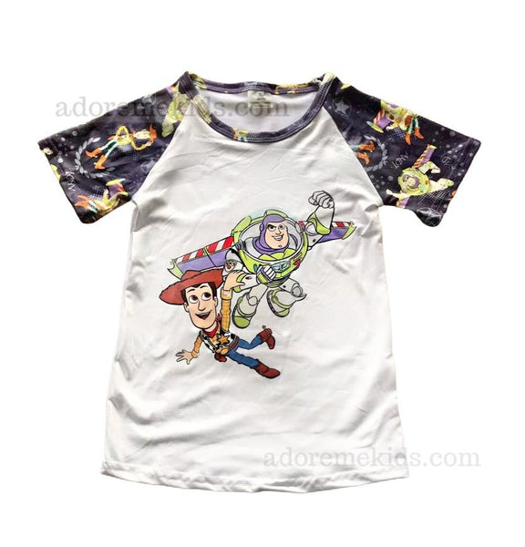 Toy Story Boys Shirt - Disney Toy Story Set - Matching Boutique Clothes for Baby and Toddler