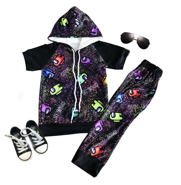 Among Us Boys Outfit - Game Among Us Pants Set - Hoodie Boys Clothes Set for Baby and Toddlers
