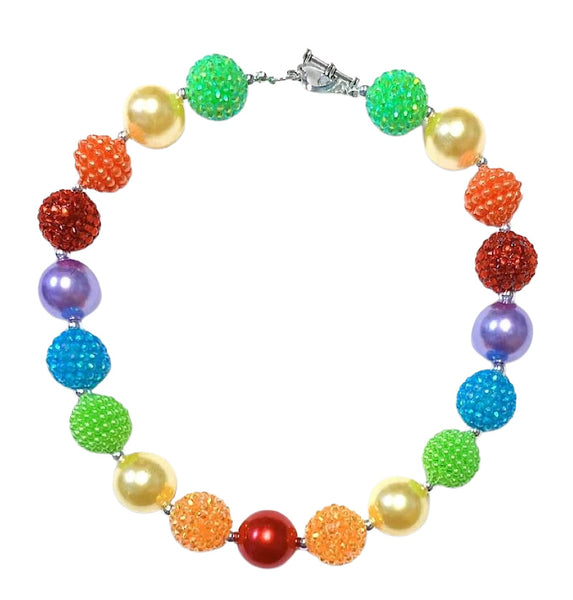 Girls Necklace Bubblegum Chunky -Rainbow Boutique  Necklace For Kids