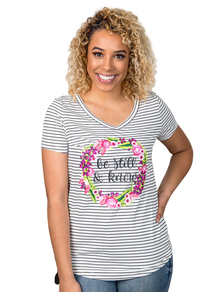Mommy & Me Matching Shirt Boutique - Be Still and Know Adult