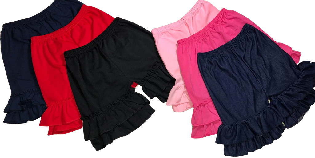 Ruffle Girls Boutique Shorts