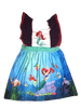 Ariel Little Mermaid Dress for Girls Baby Toddlers Princess Boutique Dress