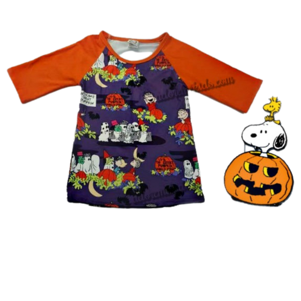 Snoopy Peanuts Halloween Boys Raglan Shirt