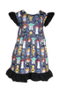 Star Wars Girls Boutique Dress with Leia, Darth Vader, Yoda, Luke Skywalker and more!