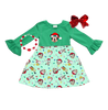 Disney Christmas Lights Girls Dress - Minnie Mickey Mouse Boutique Dress - Matching Winter Holiday Clothes for Baby, Toddler and Kids