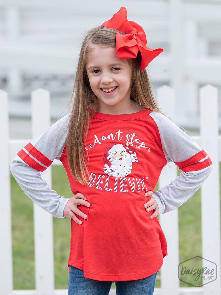 Southern Grace  -  Santa Don't Stop Believin' Shirt Mommy & Me