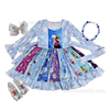 Frozen Disney Girls Dress -Boutique Fall Winter Long Sleeve Frozen Girls Twirl Dress