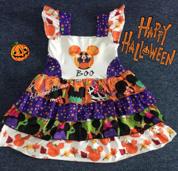 Dress - Minnie Mickey BOO Halloween Dress