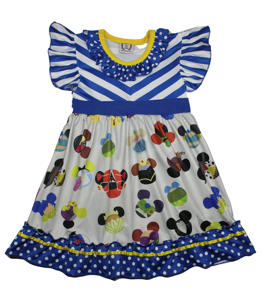 Disney Mickey Ears Princess Boutique Dress for Girls and Toddlers with Characters