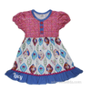 Frozen Disney Girls Boutique Ruffle Dress with Anna and Elsa