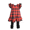 Buffalo Plaid Check Flannel Valentines Girls Boutique Clothing Dress Outfit