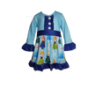 Frozen Disney Girls Boutique Dress with Princess Anna , Elsa, and Olaf