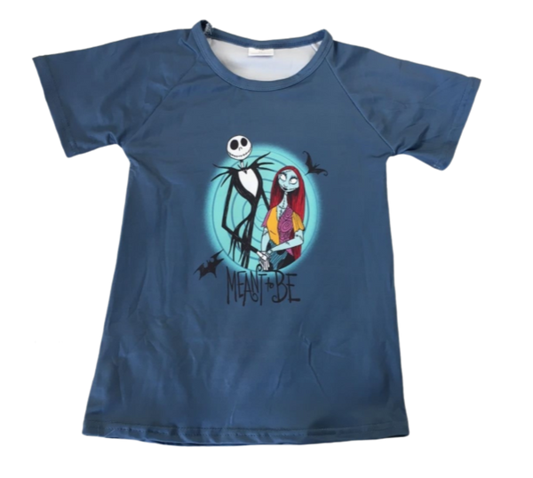 Nightmare Before Christmas Shirt Disney Boys Boutique for Toddler Baby with Sally and Jack