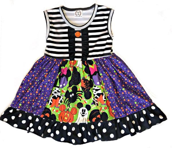 Minnie Mickey Halloween Girls Dress - Disney Minnie Halloween Boutique Clothes for Baby and Toddlers