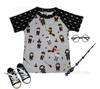 Harry Potter Boys Shirt - Wizard Magic Boutique Shirt with Ron, Hermione, and Dumbledore