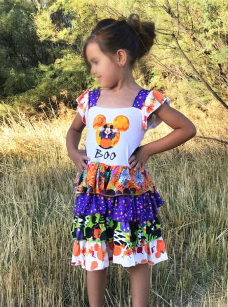 Dress - Minnie Mickey Halloween BOO Dress