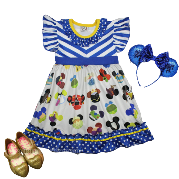 Minnie Mouse Girls Dress Disney Princess Clothes Boutique Outfit for Girls and Toddlers with Characters