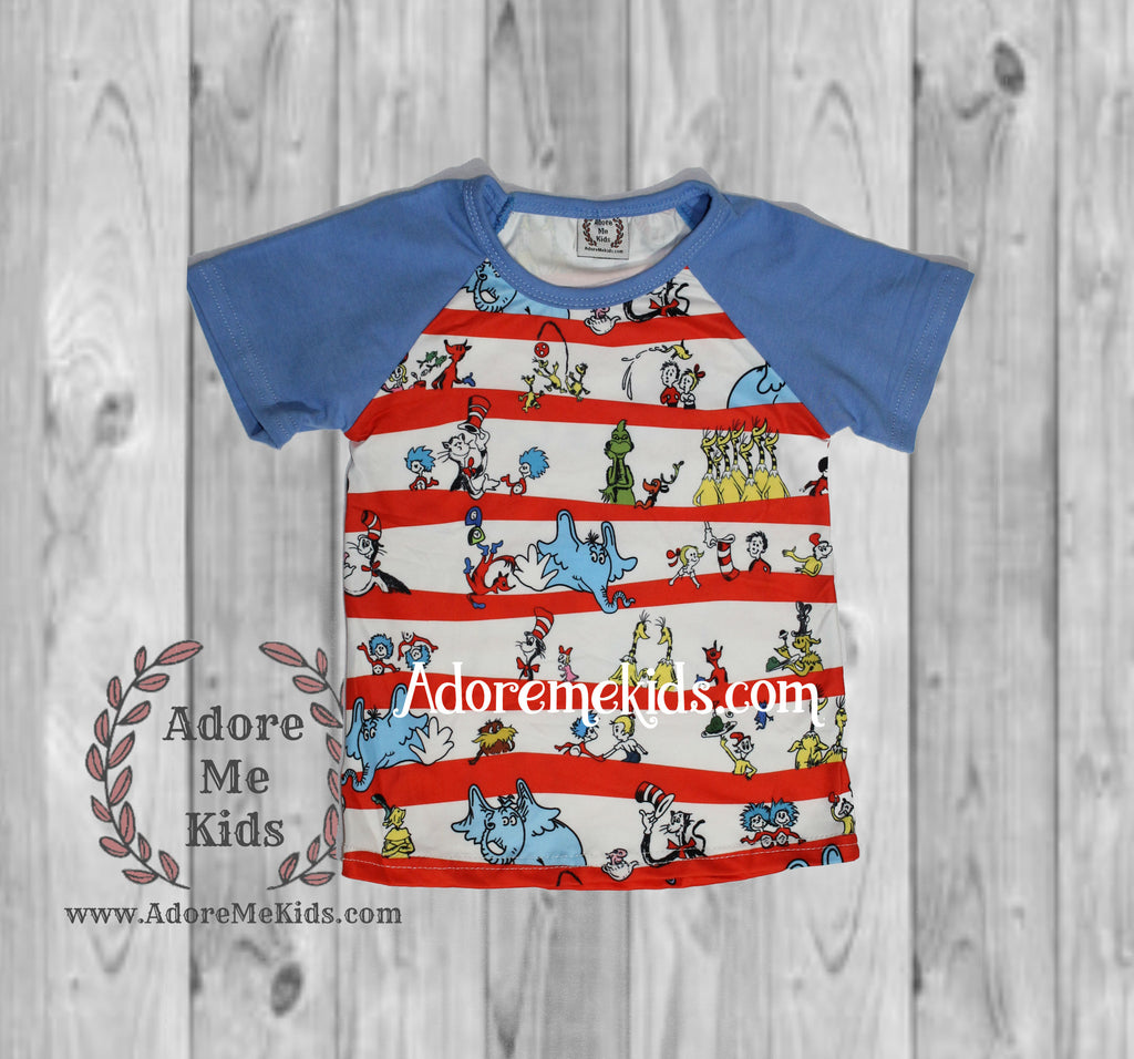 Shirt- Dr. Suess Boys Raglan Shirt
